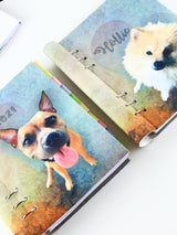Personalized Binder Planner with Pet Photo - Customized Dog Journal