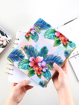Hawaii Tropical Leaf Binder Planner