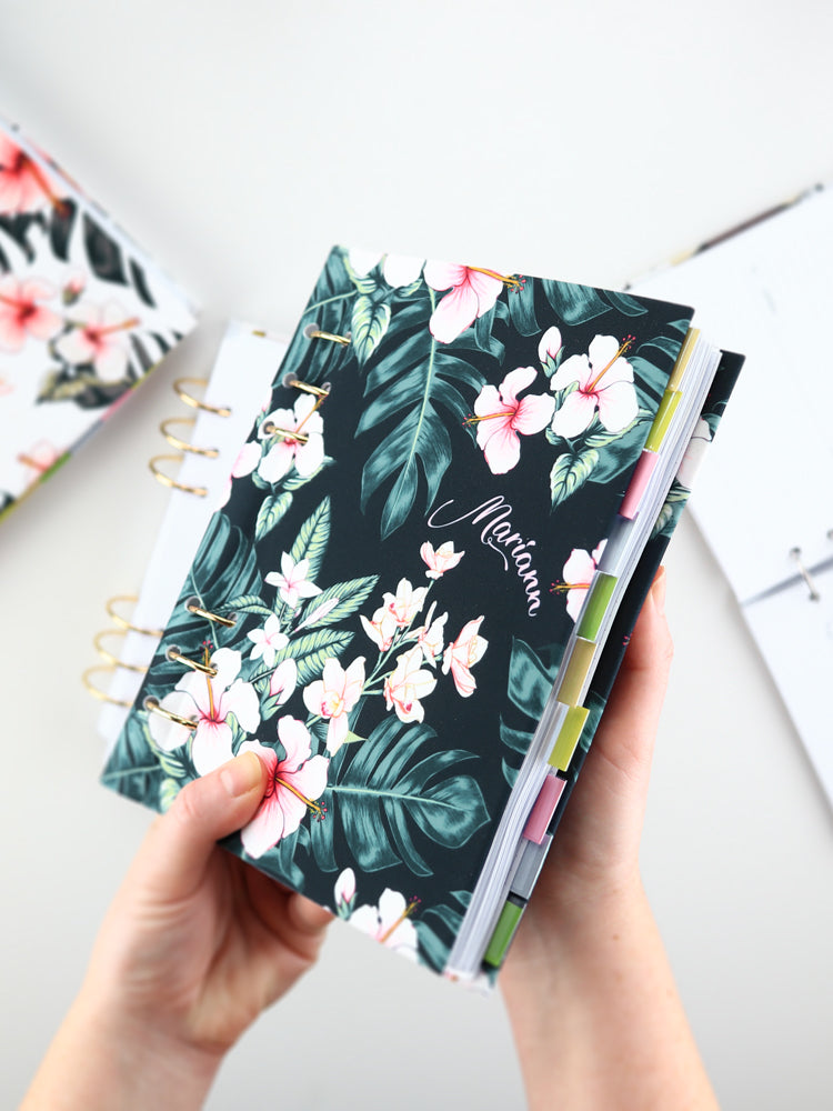 Personalized Green Tropical Binder Planner