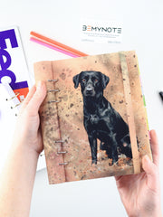 Custom Planner with Dog Photo - Handmade Personalized Bullet Journal - 1