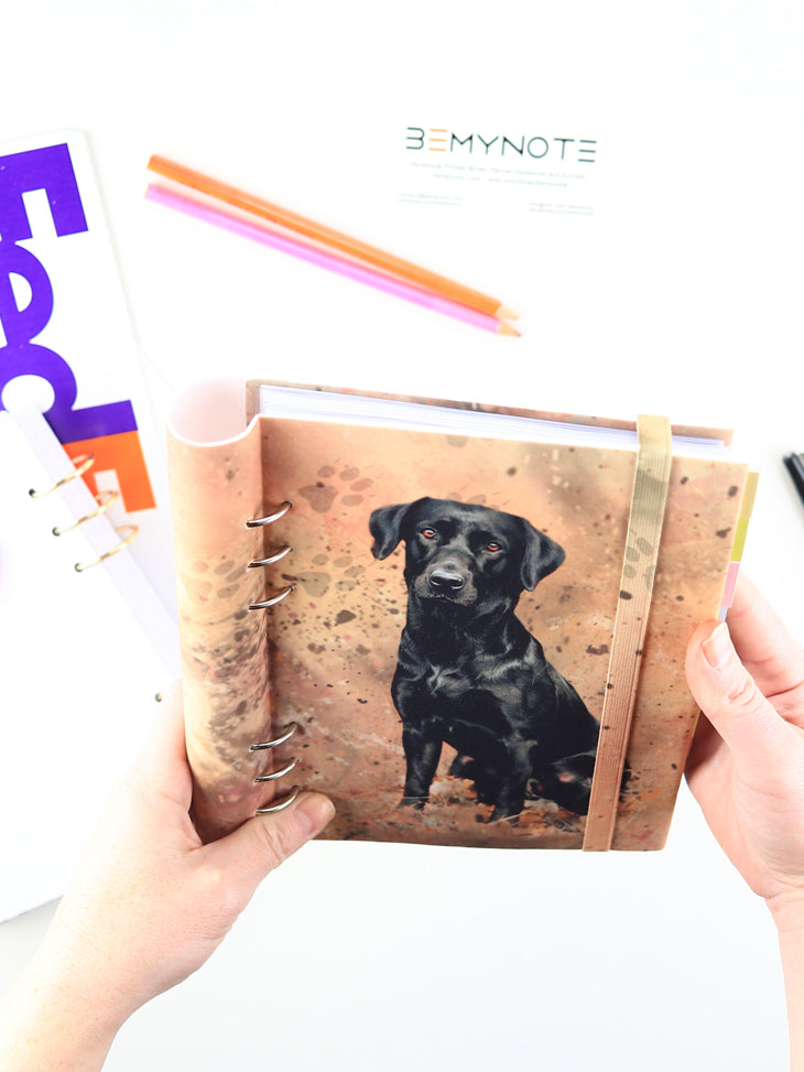 Custom Planner with Dog Photo - Handmade Personalized Bullet Journal - 5
