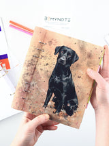 Custom Planner with Dog Photo - Handmade Personalized Bullet Journal - 4