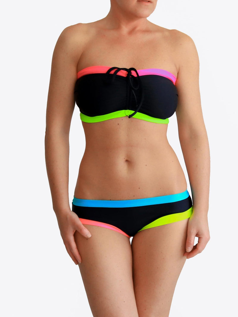 Black DDD Colorful Unique Swimwear - Custom Made - bikini set - 1