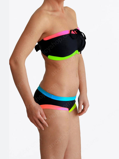 Black DDD Colorful Unique Swimwear - Custom Made - bikini set - 4