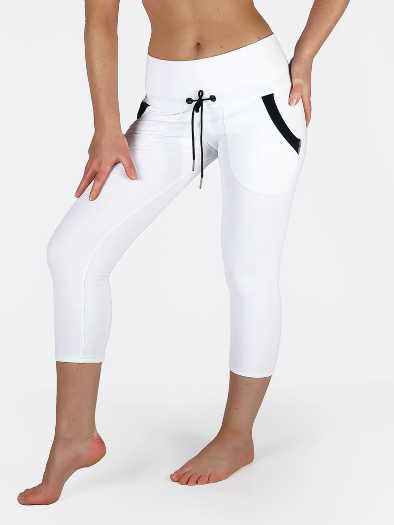 4c7a224110651 ... Black White Yoga Pants with Drawstring and Pockets - Custom Made - Yoga  wear leggings ...
