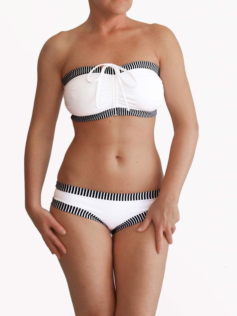 Plus Size Customised Supportive DD White Large Bust Swimwear - 1