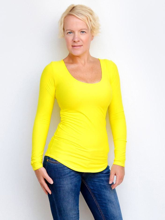Every Day Extra Long Scoop Neck Top - Custom Made - womens top - 1