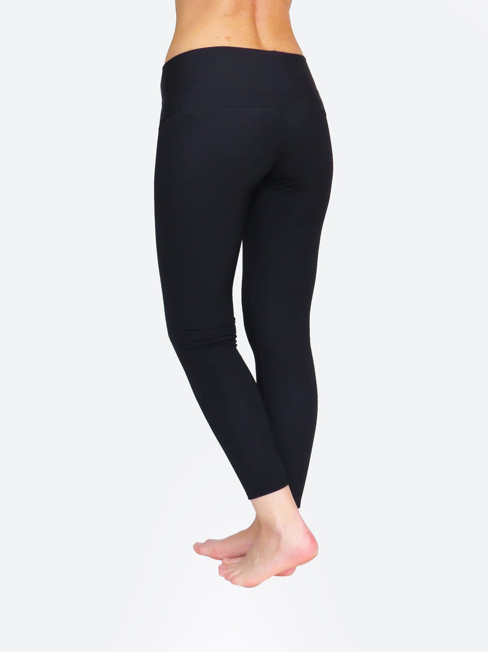 Compression Custom Ankle Mid Waisted Long Black Workout Pants - 3