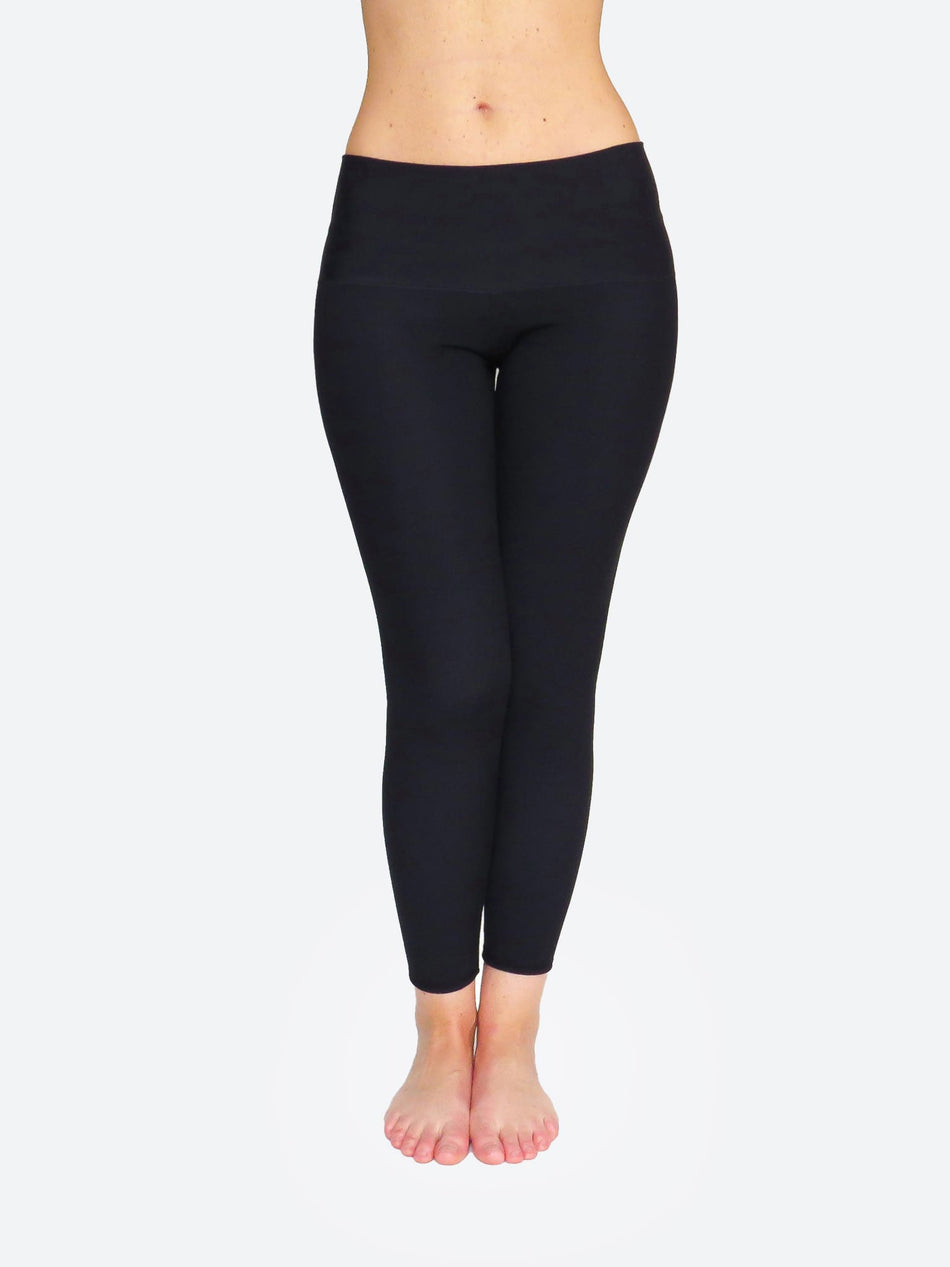 Compression Custom Ankle Mid Waisted Long Black Workout Pants - 4