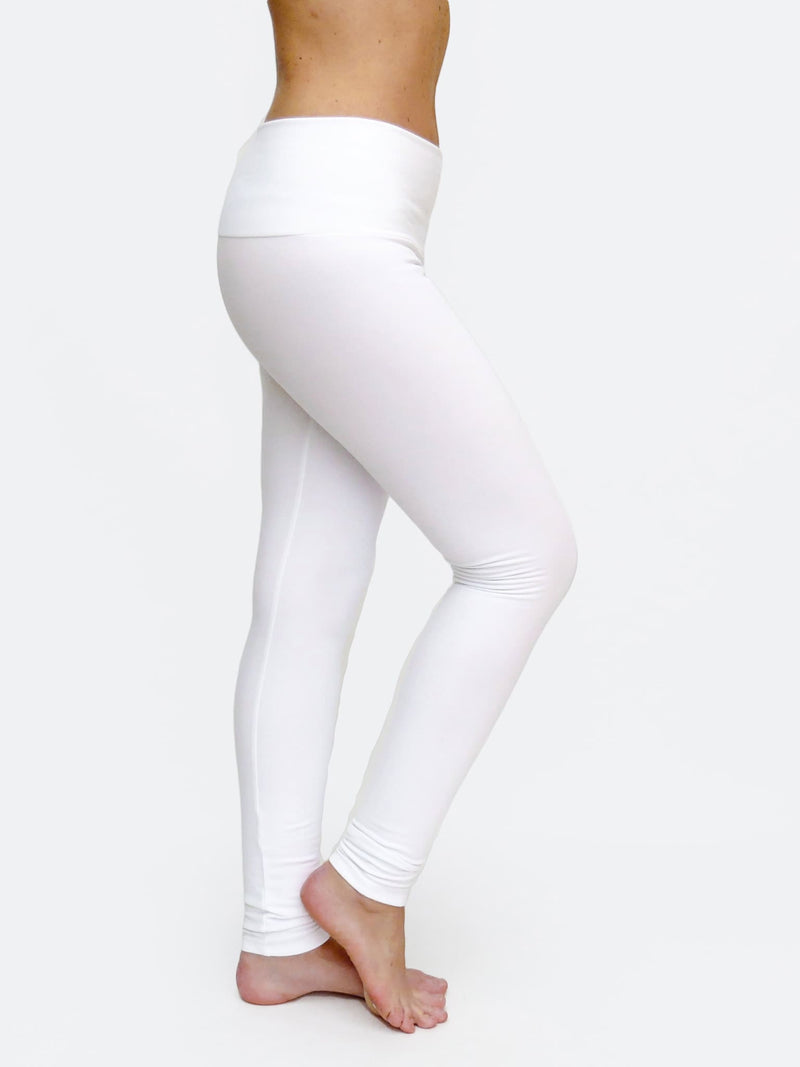 4c2e395b41e00 ... Custom Mid Waited White Womens Long White Leggings for Yoga - 3 ...