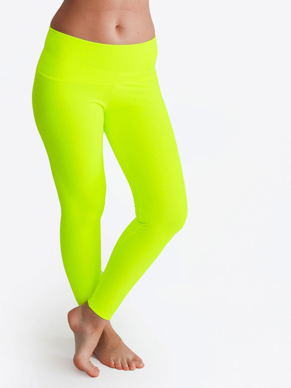Custom Mid Waist Neon Glow In The Dark Yoga Leggings for Workout - 3