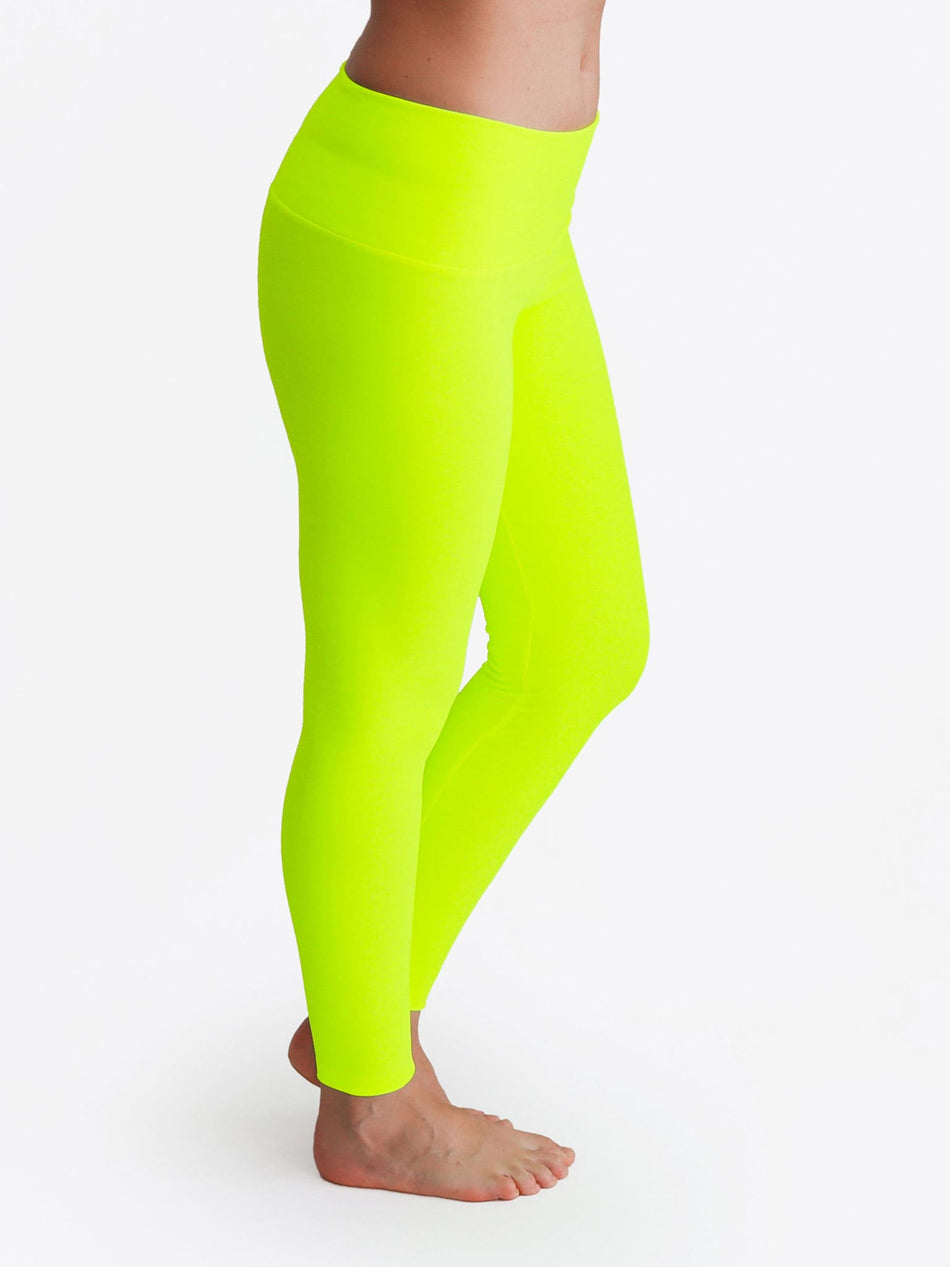 Custom Mid Waist Neon Glow In The Dark Yoga Leggings for Workout - 6