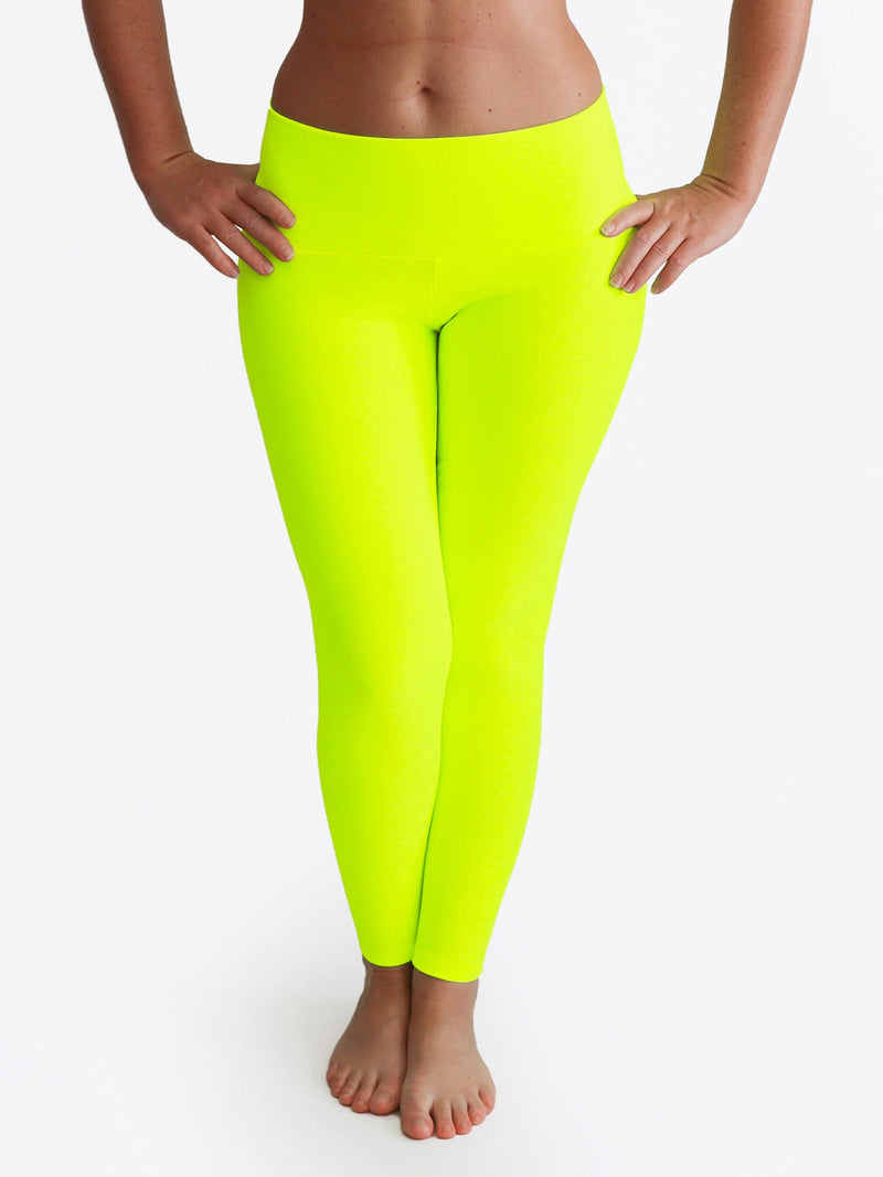 Custom Mid Waist Neon Glow In The Dark Yoga Leggings for Workout - 1