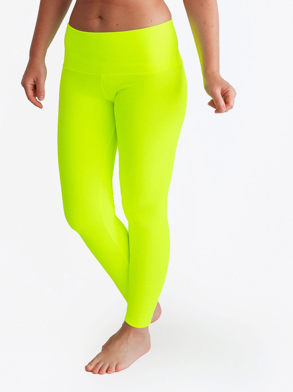 Custom Mid Waist Neon Glow In The Dark Yoga Leggings for Workout - 4