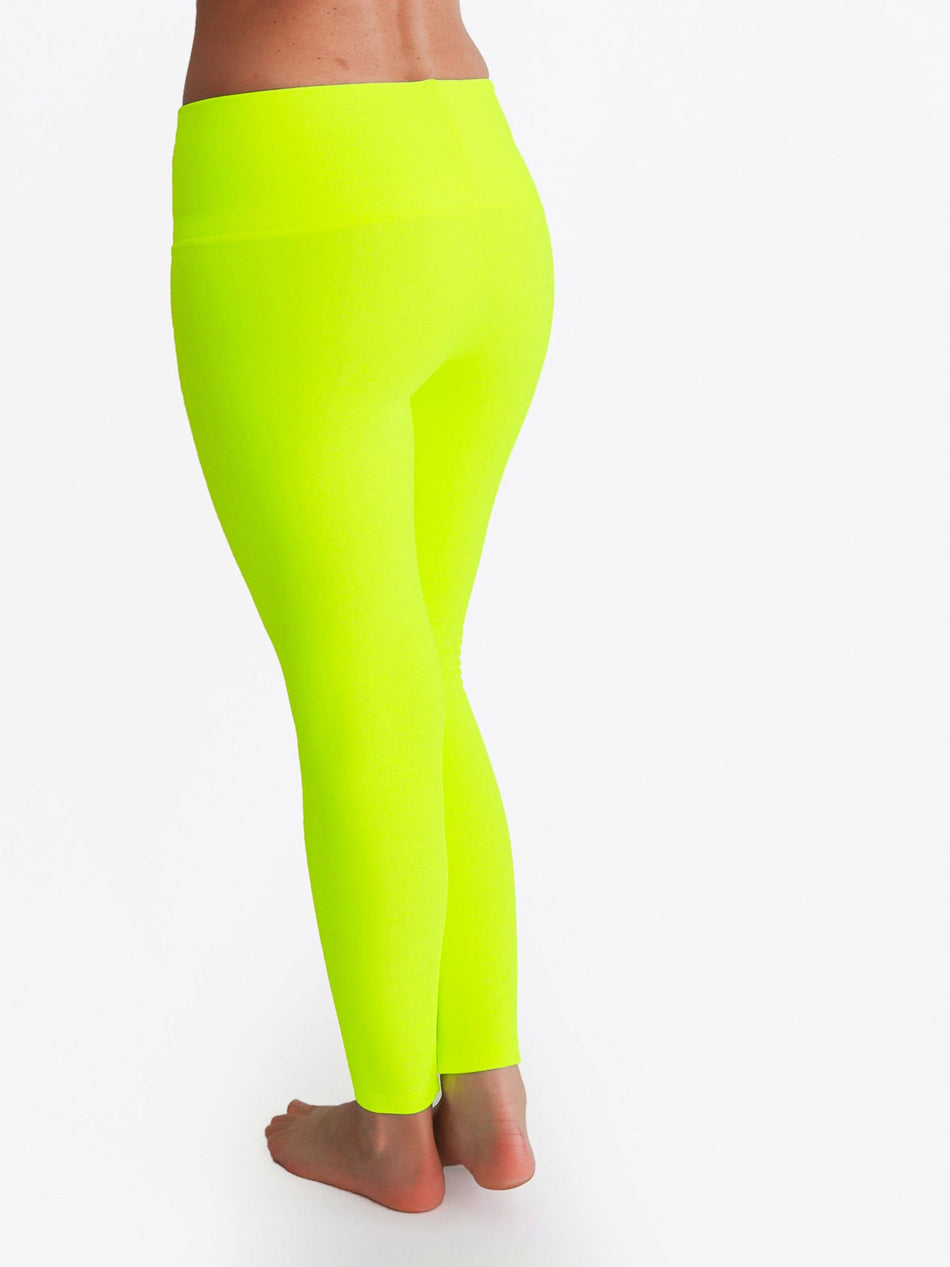 Custom Mid Waist Neon Glow In The Dark Yoga Leggings for Workout - 7