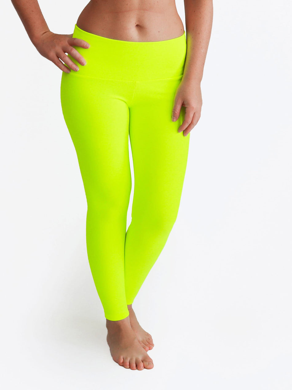 Custom Mid Waist Neon Glow In The Dark Yoga Leggings for Workout - 5