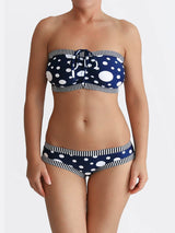 DD+ Custom Strapless Bandeau Pin Up Polka Dot Big Bust Swimwear- 5