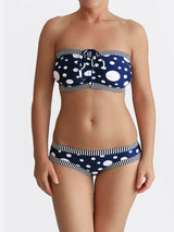 DD+ Custom Strapless Bandeau Pin Up Polka Dot Big Bust Swimwear- 1