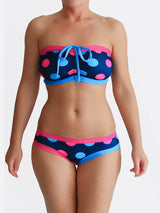 DD Plus Supportive Polka Dot Supportive Swimwear for Big Busts - 1