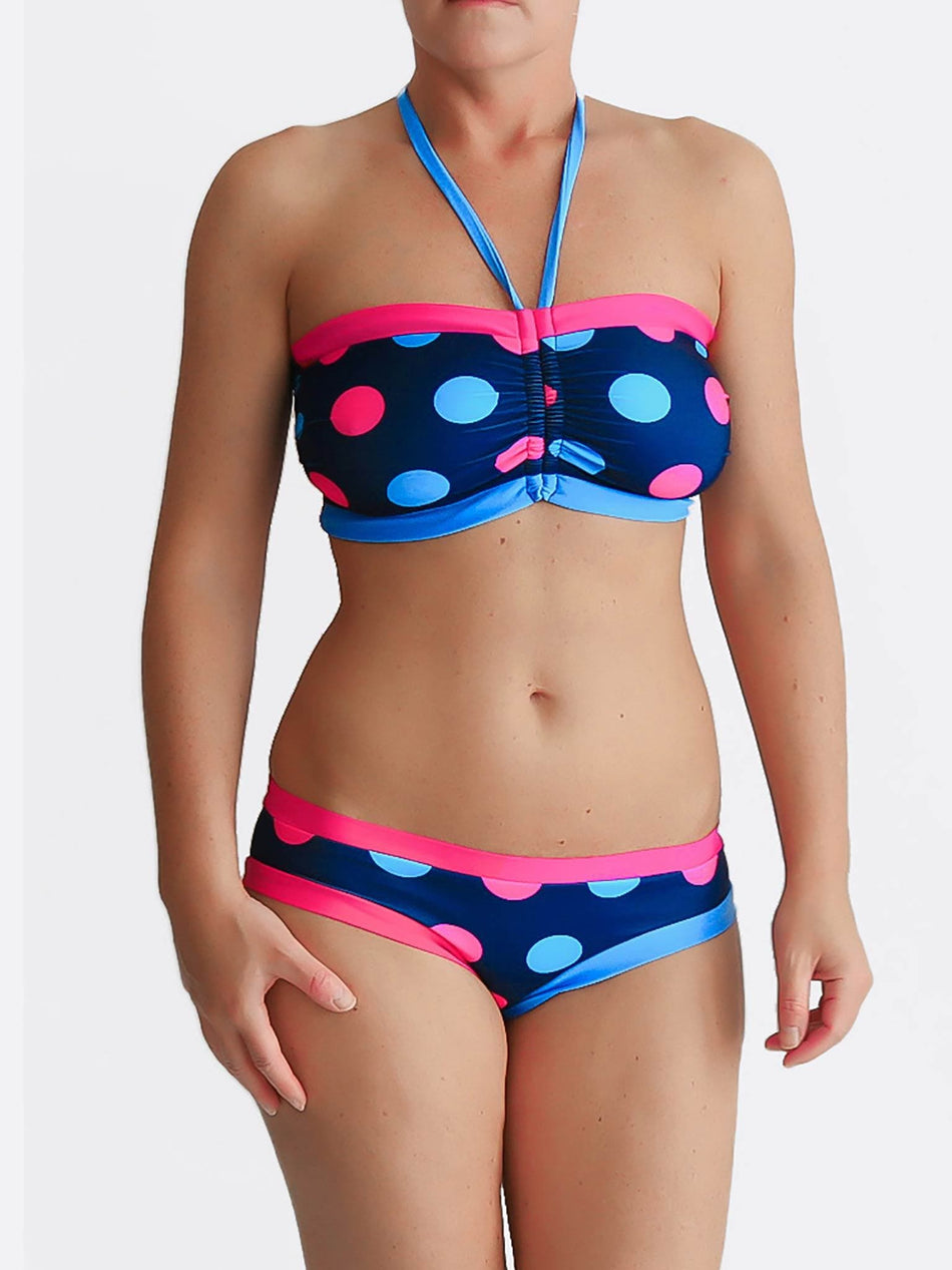 DD Plus Supportive Polka Dot Supportive Swimwear for Big Busts - 3