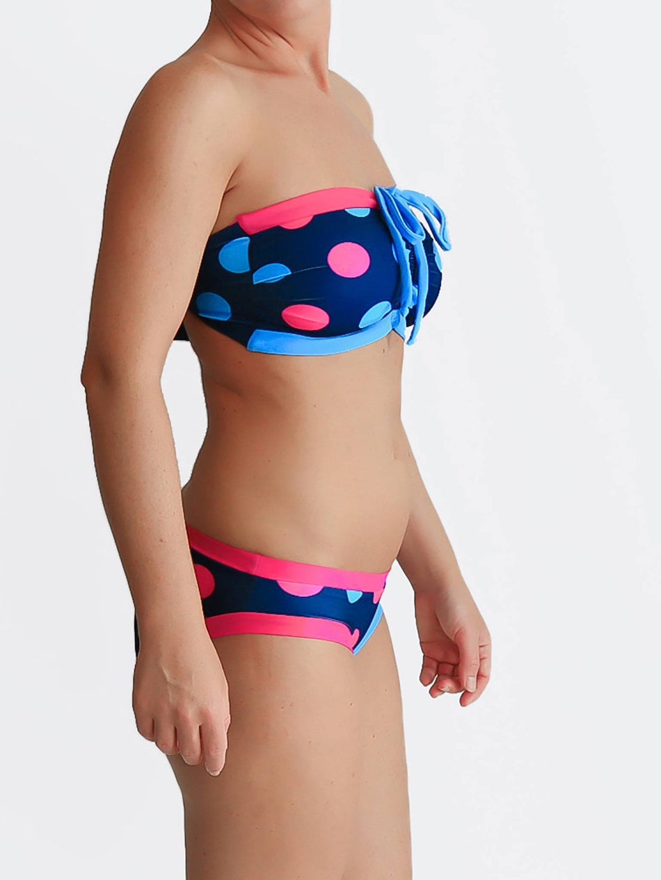 DD Plus Supportive Polka Dot Supportive Swimwear for Big Busts - 4