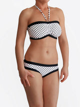 Handmade Black and White Custom Polka Dots DD+ Big Bust Swimwear - 2