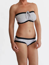 Handmade Black and White Custom Polka Dots DD+ Big Bust Swimwear - 4