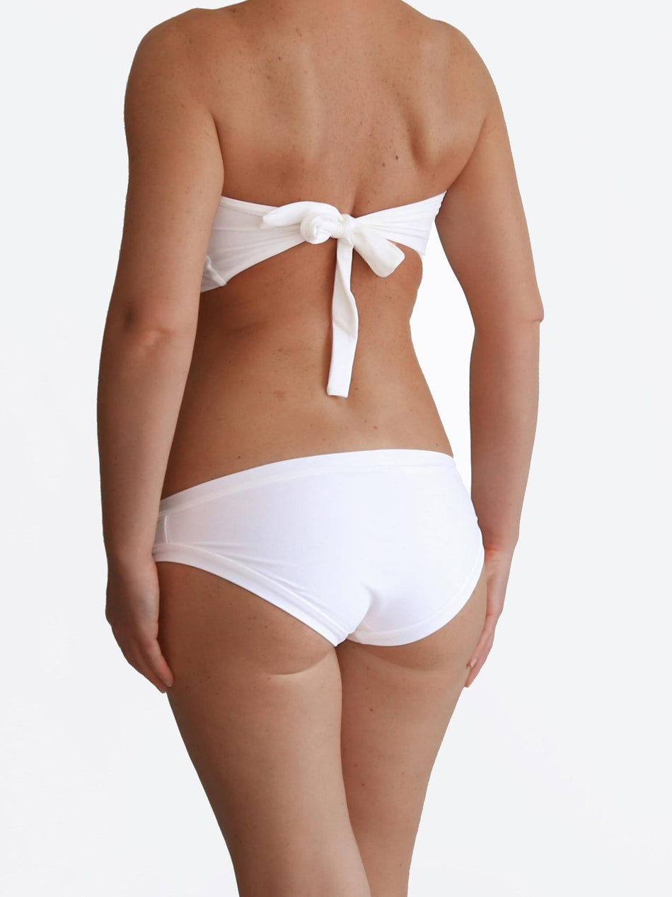Handmade DD+ Plus Size White Curvy Woman Retro Luxury Swimsuit - 4
