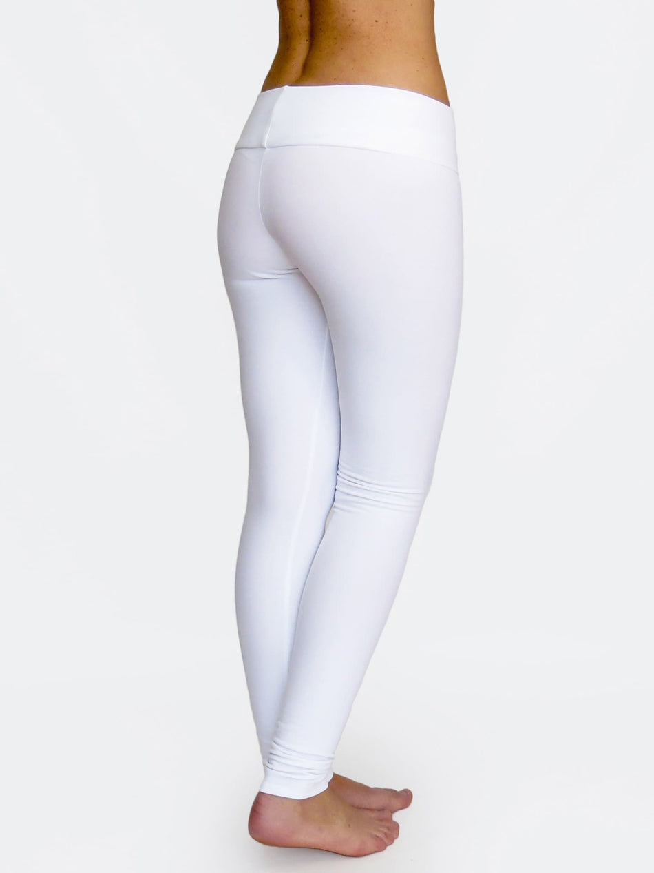 Fitness Custom White Low Waist Yoga Leggings and Dance Pants - 4