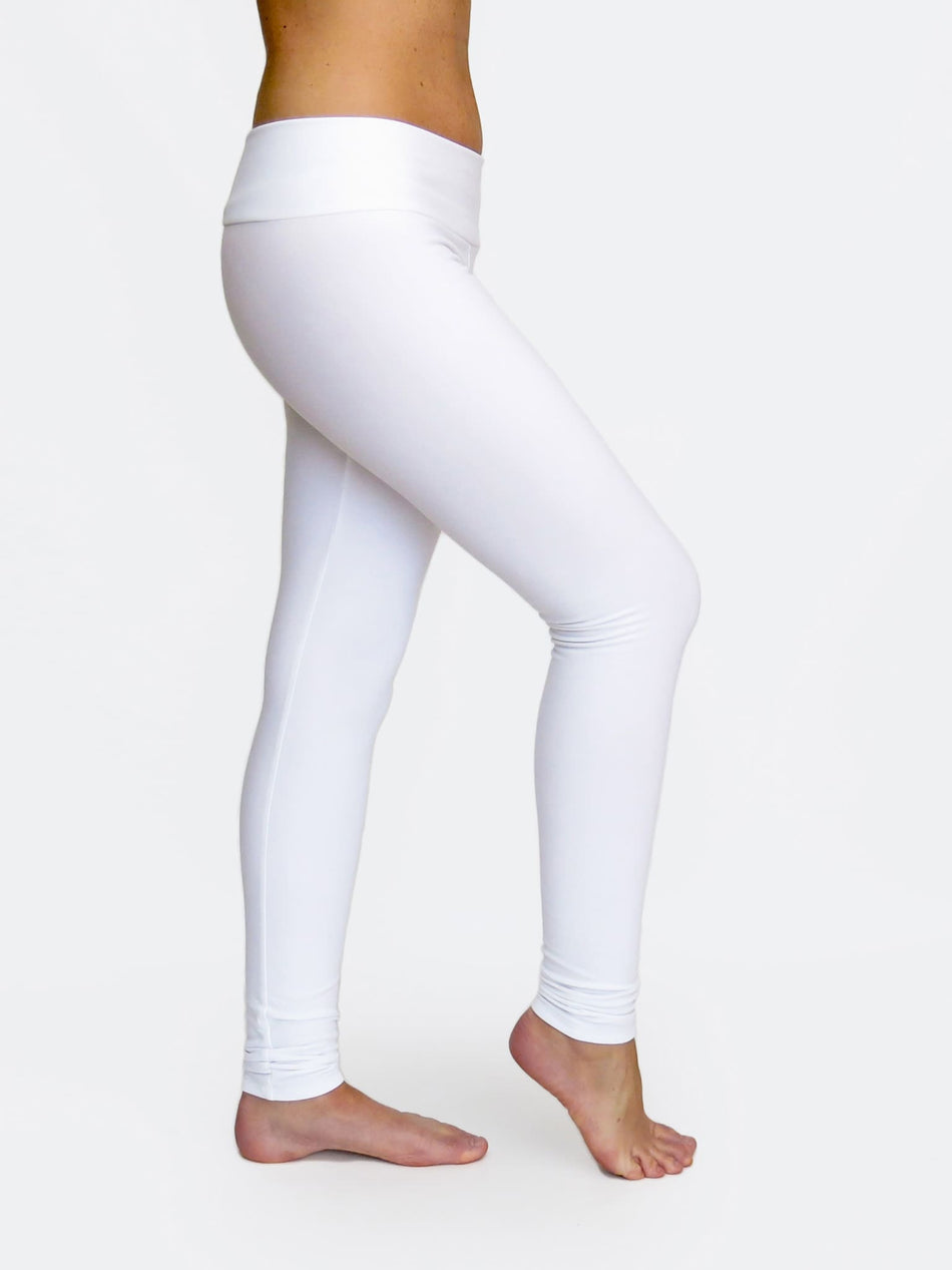 Fitness Custom White Low Waist Yoga Leggings and Dance Pants - 2