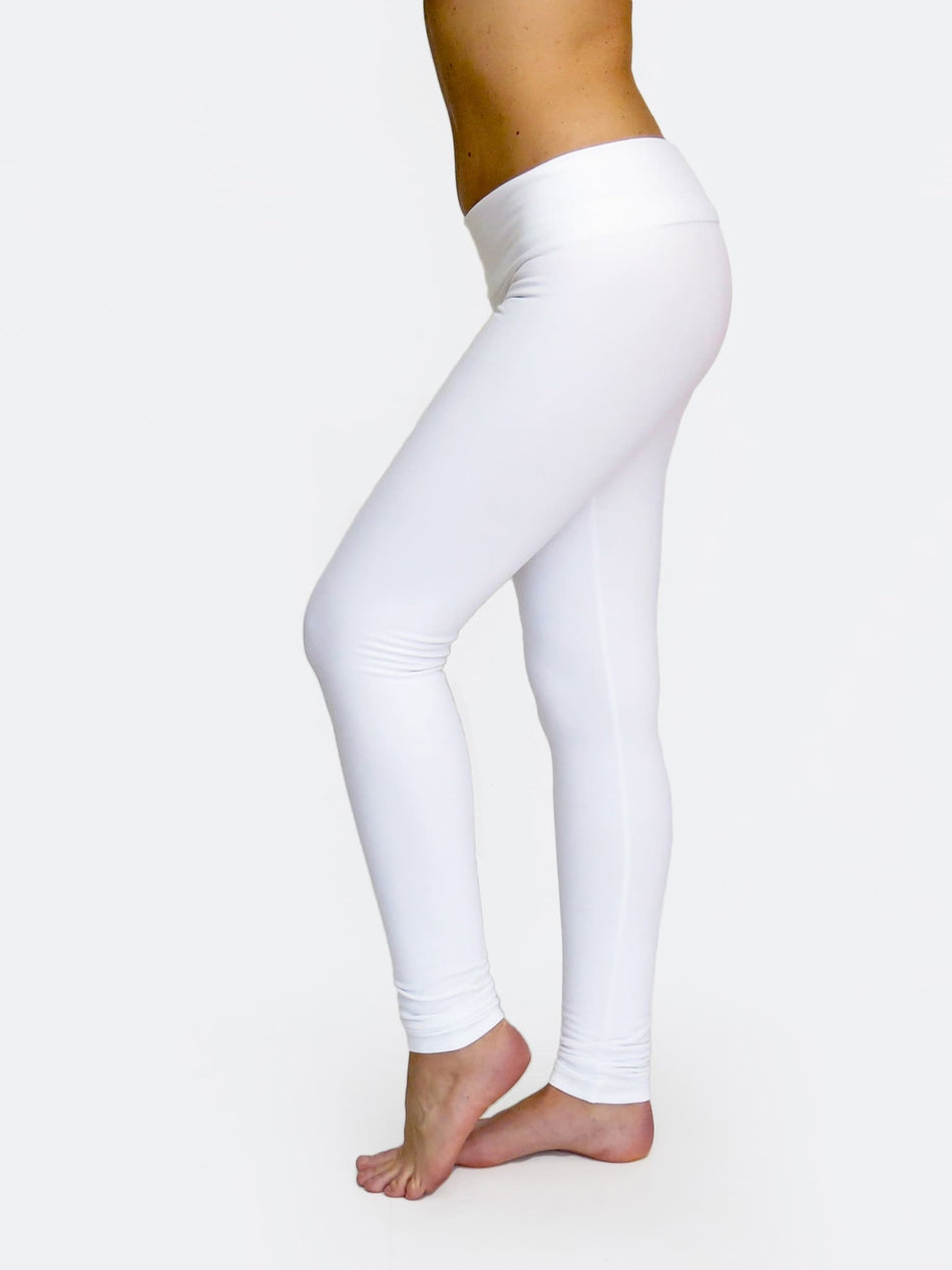Fitness Custom White Low Waist Yoga Leggings and Dance Pants - 5
