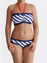Customisable G Cup Striped White Nautical Swimwear for Large Bust - 2