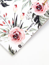 Handmade A5 Floral Planner Binder - Refillable 6 Ring Planner - Medium Wedding Journal - Blossom Diary - 7