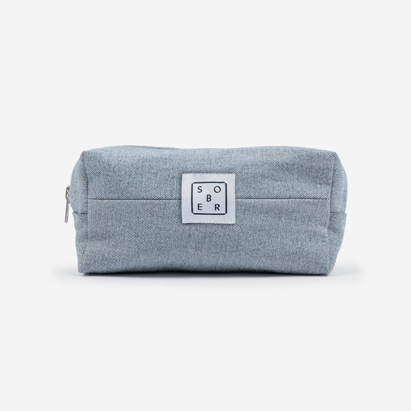Wash Bag Denim hellblau