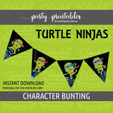 ninja turtles TMNT printable bunting