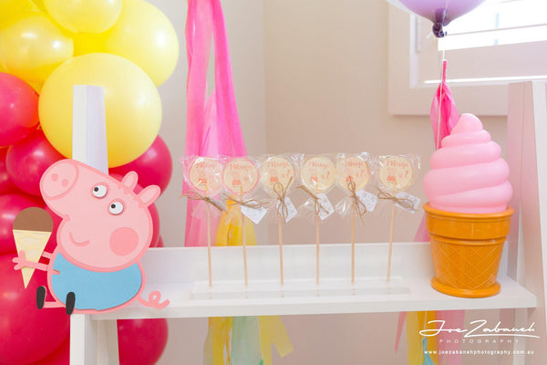 peppa pig backdrop decoration | george pig