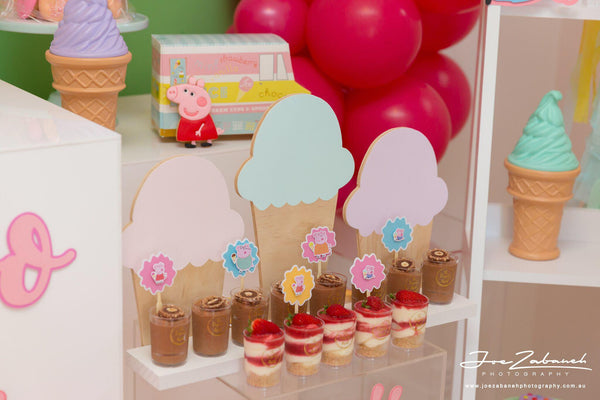 peppa pig cupcake toppers | 12 pack | READY TO SHIP