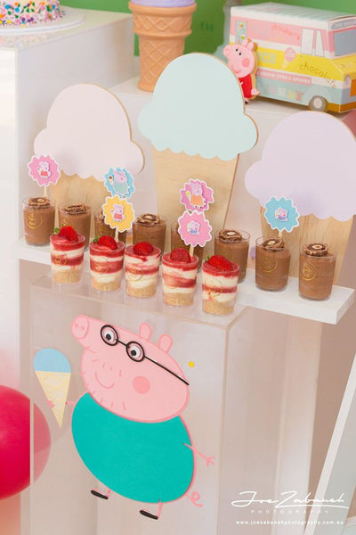 peppa pig cupcake toppers | 12 pack