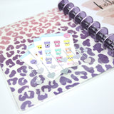 Self-adhesive sticky pocket - hearts | clear scalloped