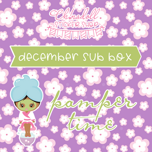 sticker box | december - pamper time | one-time purchase