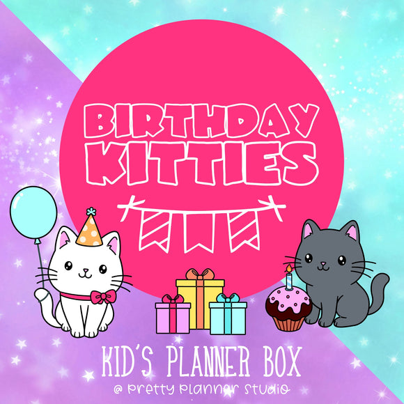 Kid's monthly planner box
