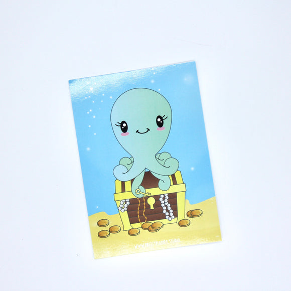 Under the sea - Octopus | journal card | US-029/1