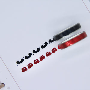 Foiled clear overlay tape - Mickey header