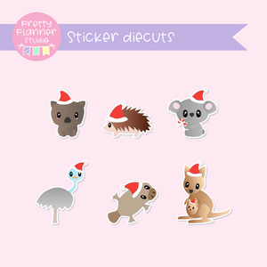 Aussie Christmas | sticker diecuts | TS-005