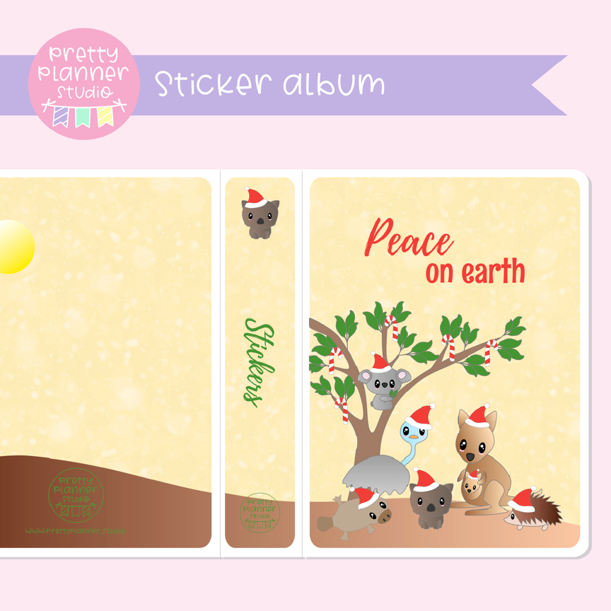 Aussie Christmas - Peace on earth | sticker album | AC-006/1
