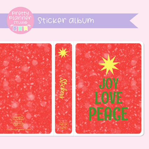 Aussie Christmas - Joy love peace | sticker album | AC-006/3