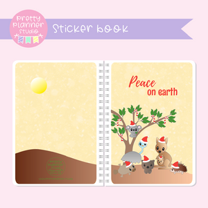 Aussie Christmas - Peace on earth | sticker book | AC-007/1