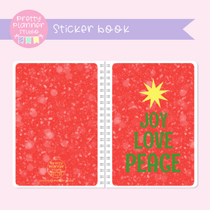 Aussie Christmas - Joy love peace | sticker book | AC-007/3