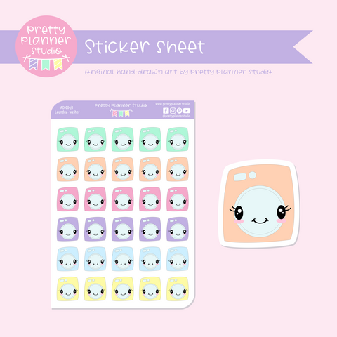 Adulting - laundry washer | sticker sheet | AD-004/1