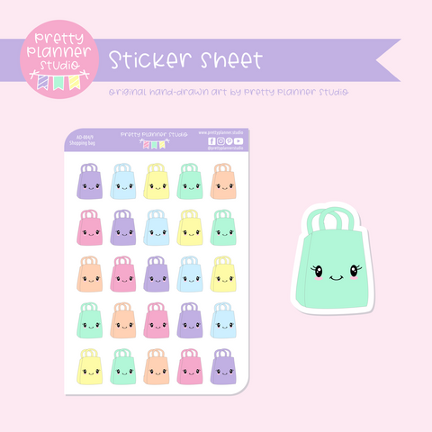 Adulting - shopping bag | sticker sheet | AD-004/9